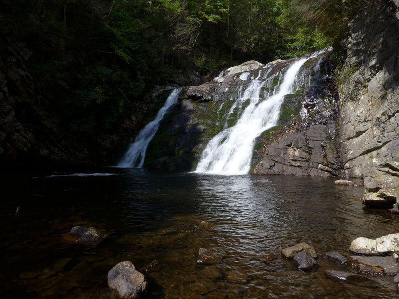 <h1>Laurel Falls</h1>In the Pound Mountain Wilderness in Carter County, TN.    The day was forecast to be heavily overcast and rainy.  Headed out for a hike that would take me to a bunch of waterfalls, and out came the sunshine!!