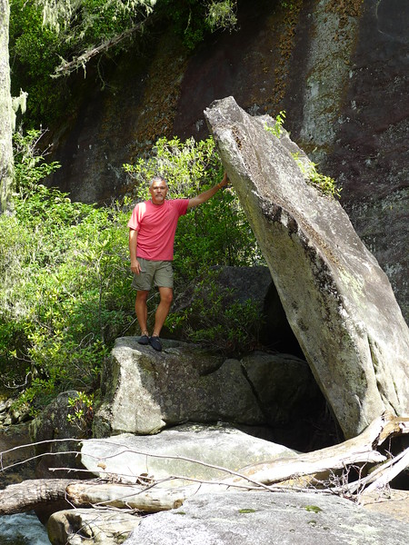 Mark, holding up a massive boulder without breaking a sweat!