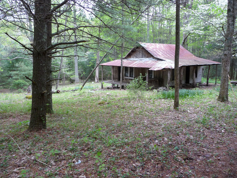 First of two remaining structures