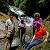 Group photo by Everette at Bear Canyon Falls.   Unfortunately, Everette is behind the camera, so we STILL don't get to see him!!