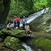 Awesome photo by Rich of the 5 of us at Bluff Falls.