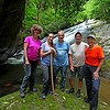 Group photo of the 5 of us at Bluff Falls.   Photo by Everette.  (We finally get to see Everette!!)