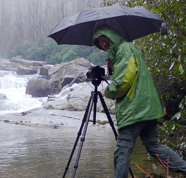 <h1>Rich</h1>...on a very rainy day along the Horsepature River.