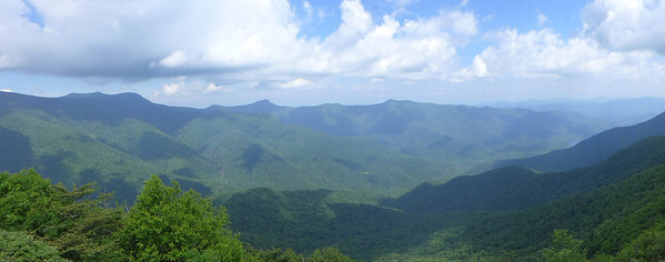 Panorama of Asheville Watershed