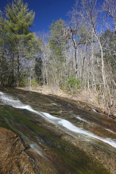 <h1>Hamlin Falls</h1>...upper section.  Photo by Andy.