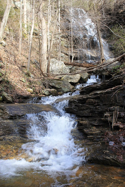 <h1>Oil Camp Creek</h1>....with Mashbox Falls in the distance.  Photo by Darrin.