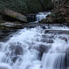 <h1>Lower cascade on Wattacoo Creek</h1>...at old Camp Spearhead.  Photo by Andy.