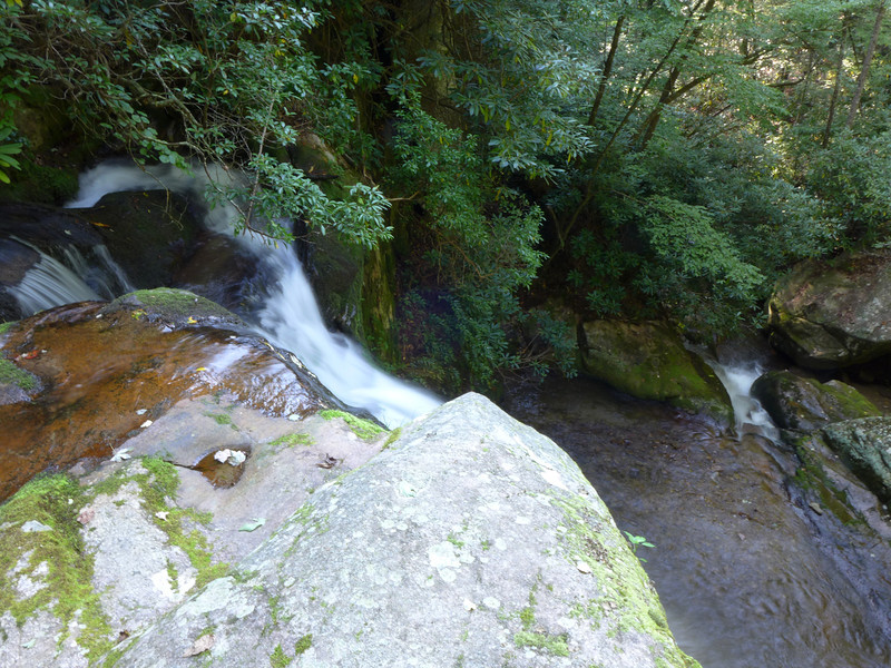 <h1>Top of Wolf Creek Falls</h1>When you first arrive at Wolf Creek Falls, you initially come out here, right at the top of these falls.  Hard to capture a good photo, but in real life, this is a pretty neat vantage point.   From below, you can see this elevated rocky vantage point above and to the left of the falls.
