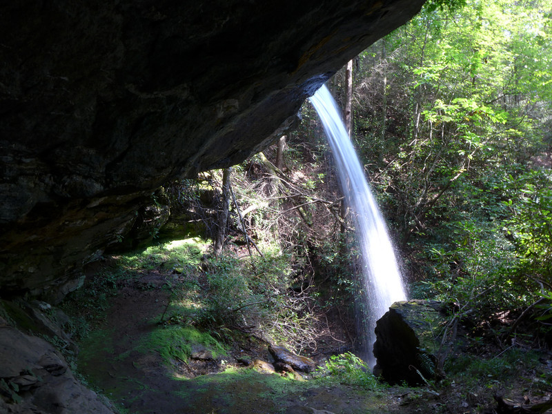 <h1>The upper section of Moonshine Falls</h1>