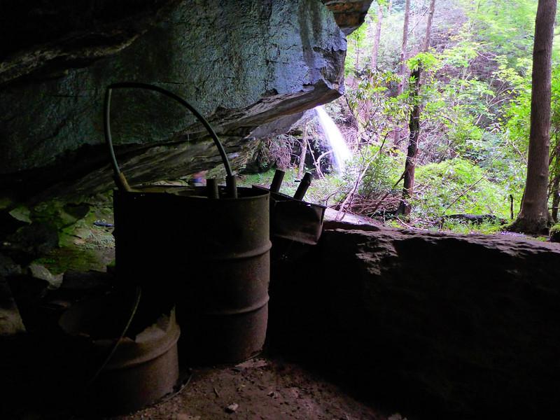 <h1>Moonshine Barrels</h1>....with Moonshine falls in the distance.