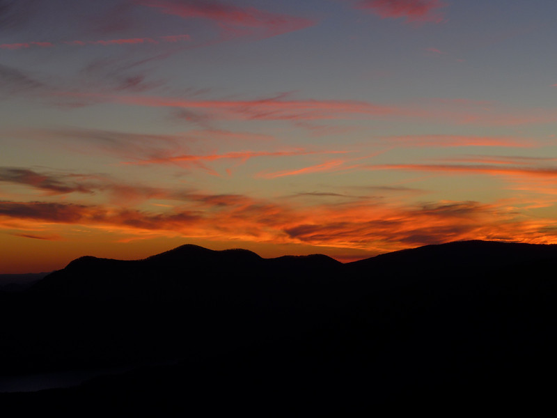 <h1>Sunset</h1>...as viewed from the observation deck at Caesar's Head State Park.  The colors were changing so rapidly, becoming deeper and deeper red and golden as the seconds ticked by!!