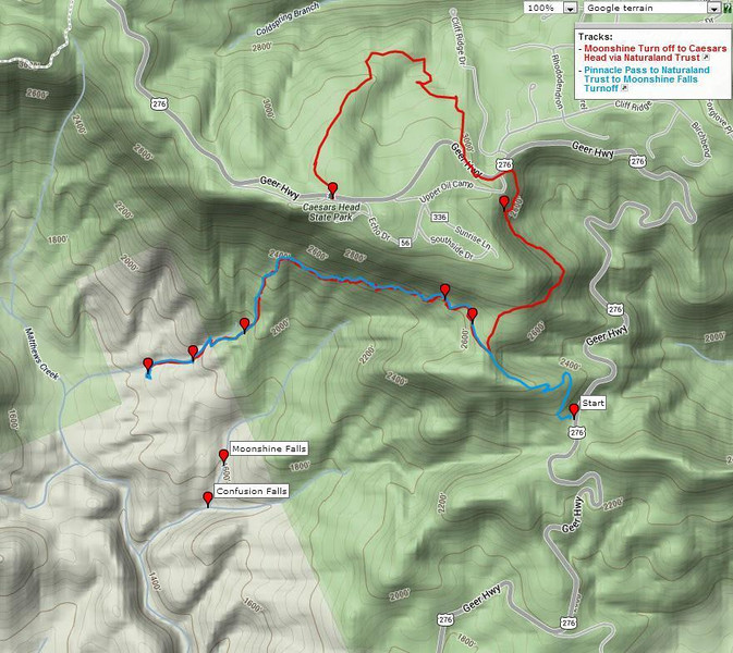 """<h1>GPS track</h1>...of the hike photographed in this gallery.     <u><b><a href=""""http://www.brendajwiley.com/gps/naturaland_trust_moonshine.html"""" target=""""_blank"""">See this link for an interactive map</a></b></u>."""