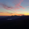 <h1>Sunset</h1>...as viewed from the observation deck at Caesar's Head State Park.  I ended my hike here, just as the sun was setting.  In the distance you can see the profile of Table Rock, and the Table Rock Reservoir below it.