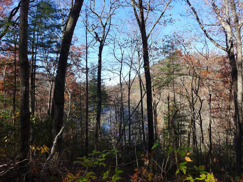 <h1>A view of Bear Creek Lake</h1>...from Eyelet Ridge trail.