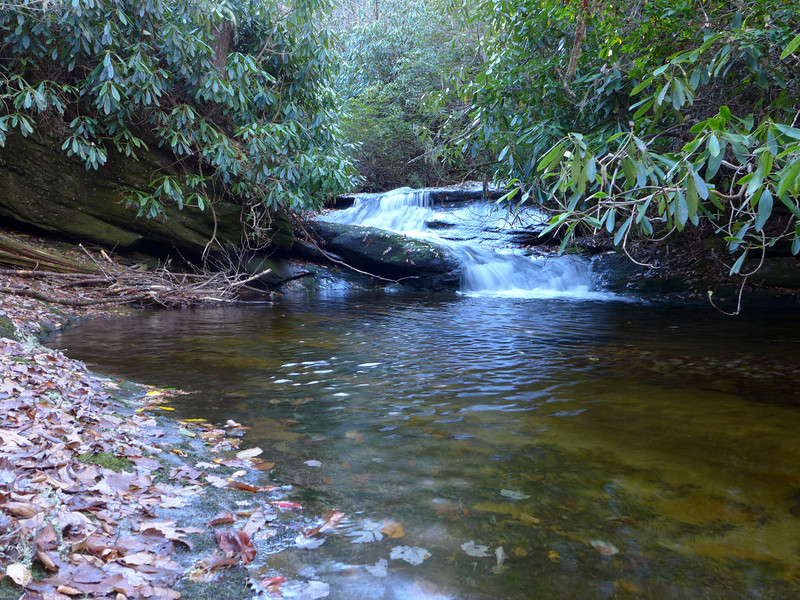 <h1>Cascade</h1>...that is just downstream from Nellie's Falls on Flat Creek in northern Panthertown.