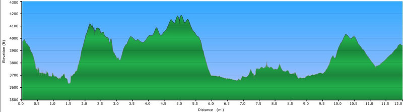 <h1>Elevation Profile</h1>...of the hike highlighted in this gallery.