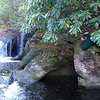 <h1>Darrin</h1>...lying along the rocky bank, getting a shot of Pothole Falls