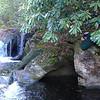 <h1>Darrin</h1>...lying along the rocky bank, getting a shot of Pothole Falls