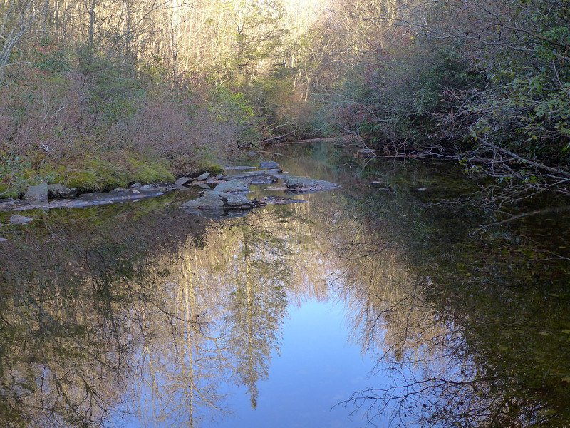 <h1>Looking downstream</h1>...from Pothole falls.
