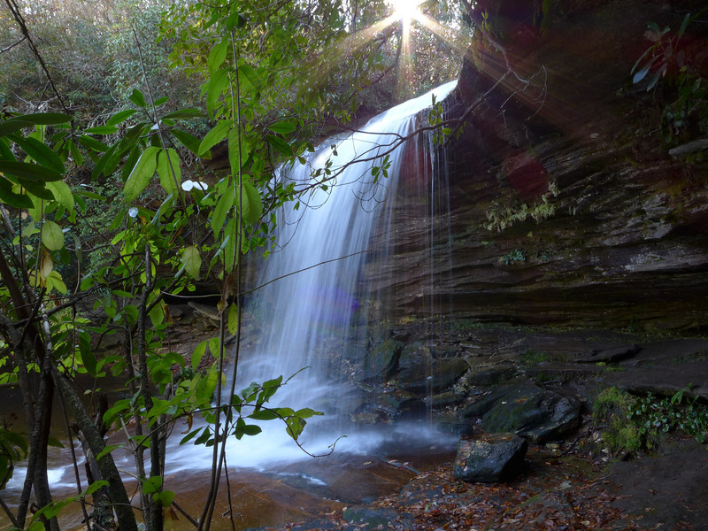 <h1>Schoolhouse Falls</h1>While we were here, the sun just peeked up from above the ridge to the southeast.