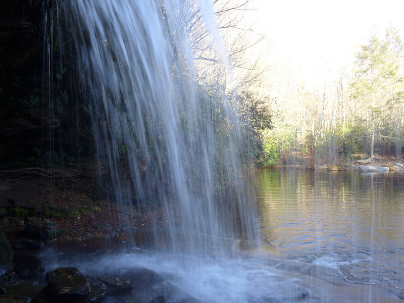 <h1>Schoolhouse Falls</h1>...from behind the falls.