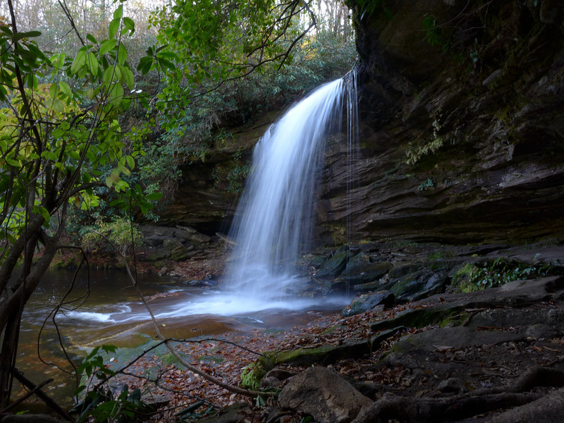 <h1>Schoolhouse Falls</h1>...from the right.