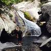 Mark at the base of Steels Creek Falls