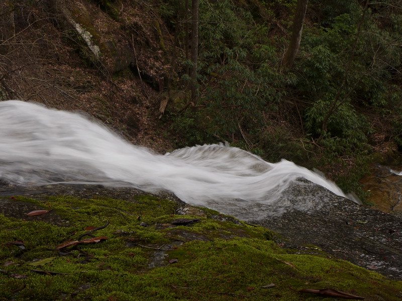 Water sculpting the rock