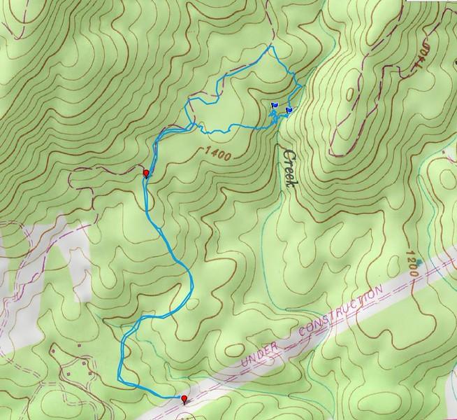 Rachael Creek via Alewine Road
