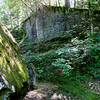 Our first surprise was this huge, rock and stone structure that bordered Rocky Bottom Creek.