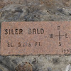 Marker at the top of Siler Bald