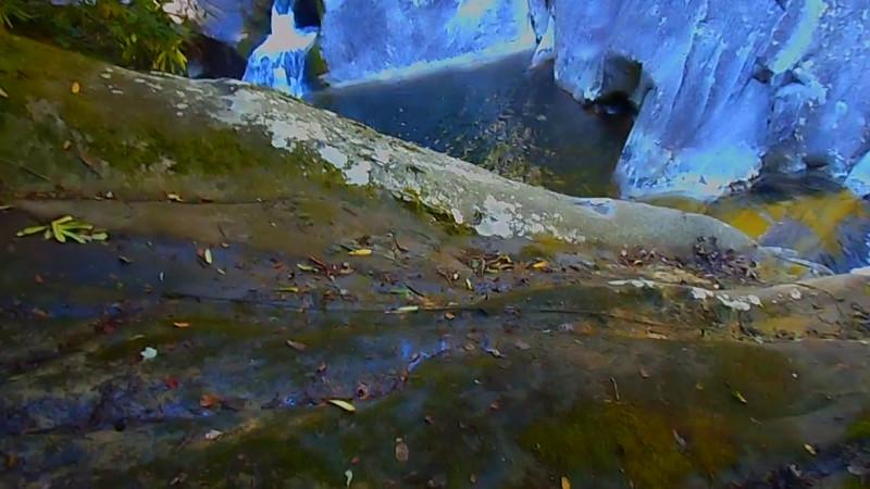 Overlooking Upper Steels Creek Waterfall