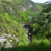 <h1>An even more distant view</h1>... of the suspension bridge over the Tallulah River, and the gorge itself.