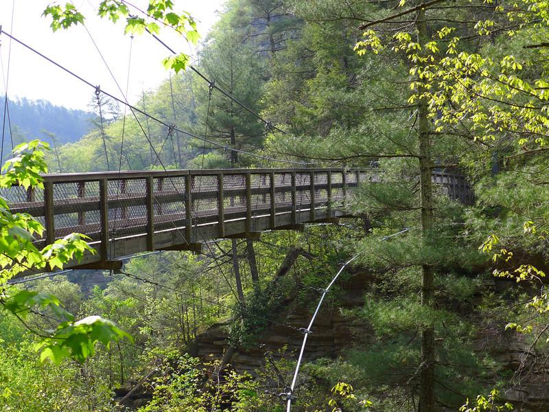 <h1>Suspension Bridge</h1>...that spans Tallulah Gorge.