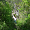 <h1>Tempesta Falls</h1>...along the Tallulah River Gorge.   Shot from overlook #7 along the South Rim.