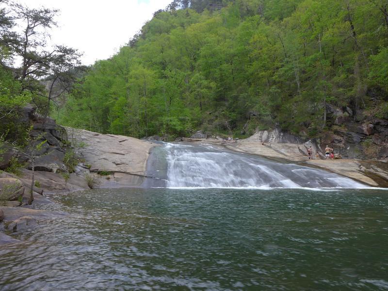 <h1>Bridal Veil Falls</h1>...and the pool at the base.