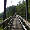 <h1>Andy</h1>...walking across the suspension bridge that spans Tallulah Gorge.