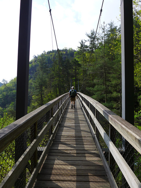 <h1>Andy</h1>...walking across the suspension bridge that spans Tallulah Gorge.