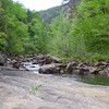 <h1>View upstream</h1>...from Bridal Veil Falls.