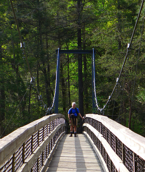 <h1>Andy</h1>...on the far end of the suspension bridge that spans Tallulah Gorge.