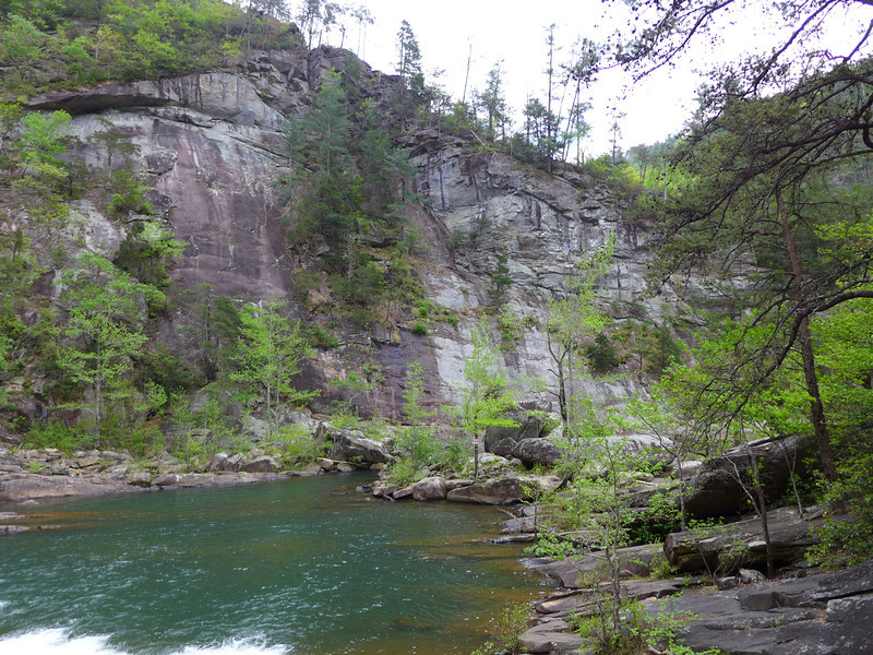 Another view of the rock walls that form the Tallulah River Gorge.