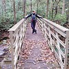 On the bridge that connects Jones Gap Trail with Coldspring Branch