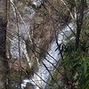 <h1>Side View</h1>....of Twin Falls, as seen from the trail to the upper section of the falls.