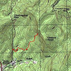 """<h1>GPS Track</h1>...of our hike to the waterfall.     <u><b><a href=""""http://www.brendajwiley.com/gps/rocky_bottom_tributary_ow.html"""" target=""""_blank"""">Interactive map here.</a></b></u>  <u><b><a href=""""http://www.brendajwiley.com/waterfall_on_tribuatary_of_rocky_bottom_creek.html"""" target=""""_blank"""">See my webpage on this hike here.</a></b></u>"""