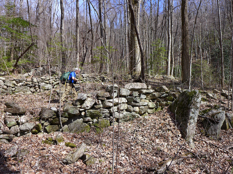 <h1>Andy</h1>...walking along a section between the rock walls.