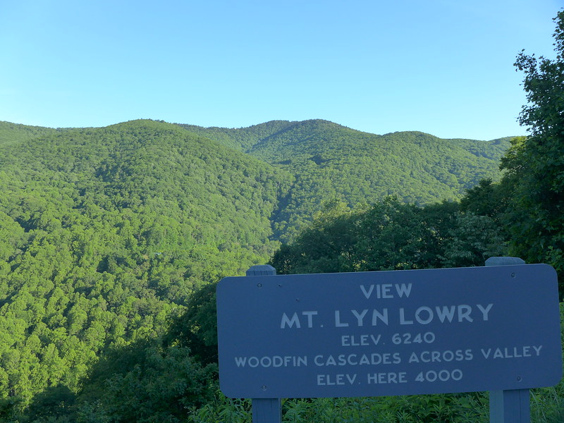 From the Blue Ridge Parkway's Overlook
