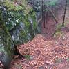 The trail as it heads down off Blackrock Mountain's peak