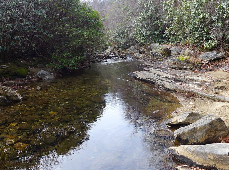 Looking upstream, towards Graveyard Fields