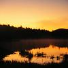 Northville-Placid Trail, Dawn, Mud Lake, oct 13, 1989 PICT9233