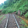Mudslides covered the railroad tracks near RVA in several places.